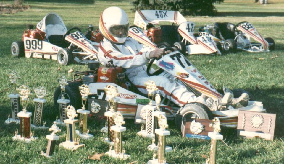 Our start at Glemba Racing. All our karts. Beau was Rookie, I was Jr. Box Stock, and Dad was Senior box Stock!