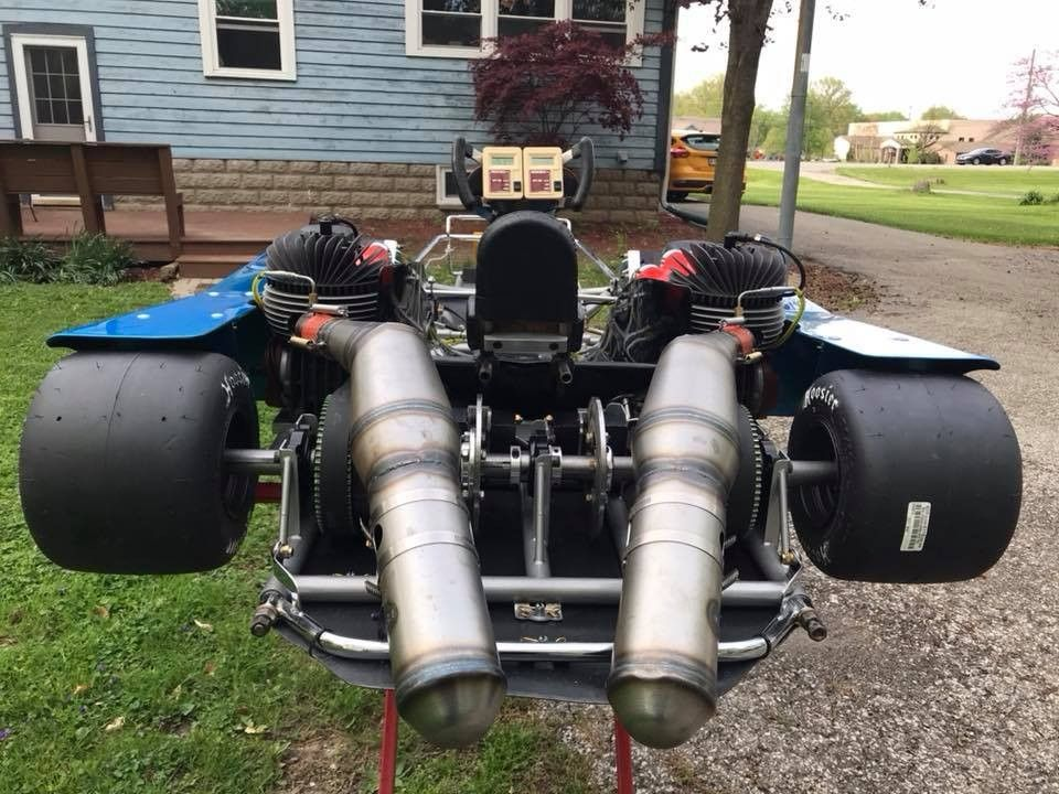 I raced karts and won the Eastern US Burris Championship race when I was young on a dirt track before I got hurt in a motorcycle race. Top speed around 50 or 60. Can you imagine laying back in this enduro kart going at speeds of 150 with no roll cage?
