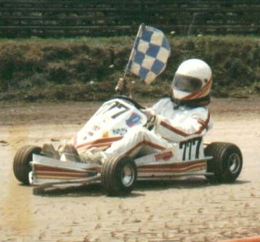Here is my oldest son with the flag after he won the Easter US championship race.