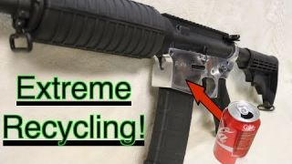 Making an AR15 from soda cans, MAIN VIDEO re-post with bonus footage. GunCraft101