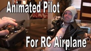 Animated Pilot for RC Airplane